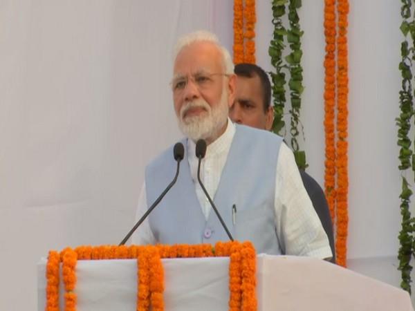 Prime Minister Narendra Modi addressing a gathering after the inauguration of Lok Sabha Secretariat duplex flats in New Delhi on Monday. Photo/ANI