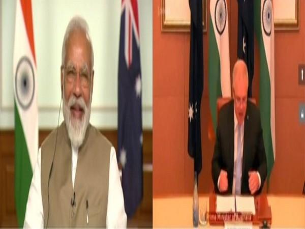 Prime Minister Narendra Modi and Australian counterpart Scott Morrison at the virtual India-Australia summit