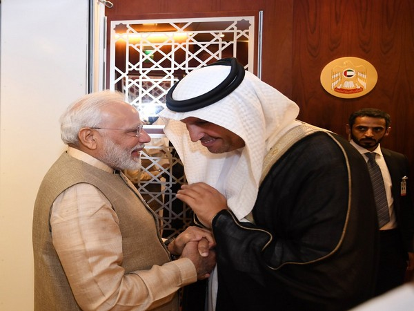 Prime Minister Narendra Modi with UAE Crown Prince Sheikh Mohammed bin Zayed Al Nahyan on Friday