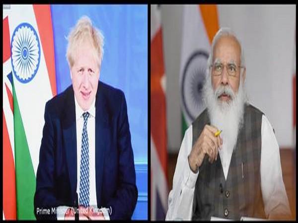 UK Prime Minister Boris Johnson and PM Narendra Modi