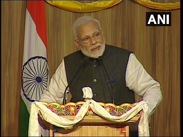 PM Narendra Modi speaking at the Royal University of Bhutan in Thimphu on Sunday.