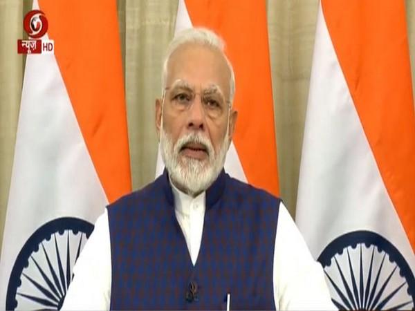 Prime Minister Narendra Modi addressing the nation on Saturday. (Photo/ANI)