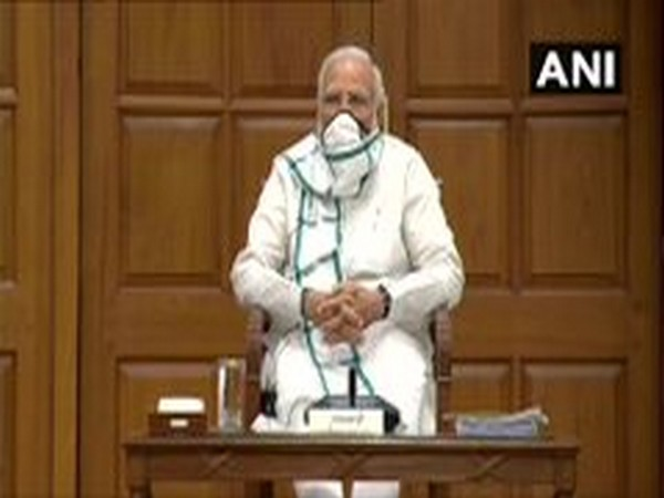 Prime Minister Narendra Modi at the Union Cabinet meeting on Wednesday. [Photo/ANI]