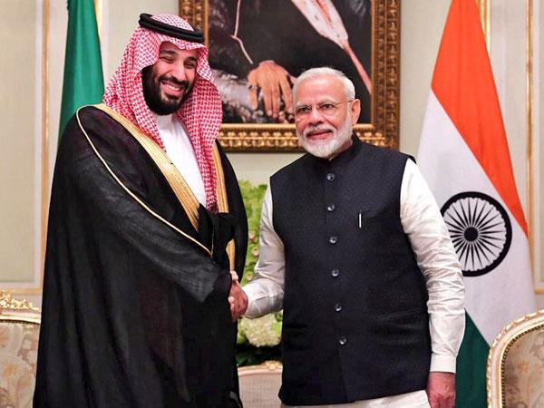 Prime Minister Narendra Modi and Saudi Crown Prince Mohammed bin Salman in Riyadh on Tuesday. (Photo Credits: MEA spokesperson Raveesh Kumar's Twitter)