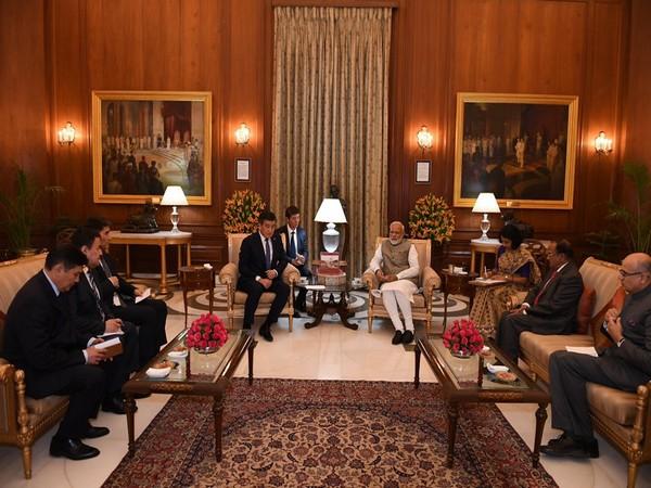 Prime Minister Narendra Modi discusses bilateral ties with Kyrgyz President Sooronbay Jeenbekov (Picture Credits- Twitter/ Narendra Modi)