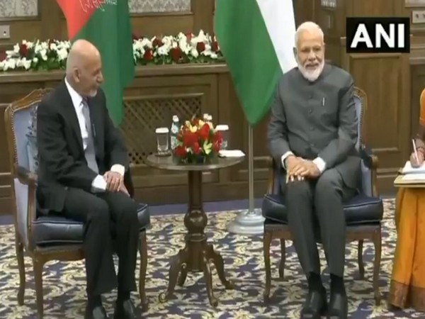 Afghan President Ashraf Ghani and Prime Minister Narendra Modi meeting at the sidelines of SCO Summit in Bishkek on Thursday.