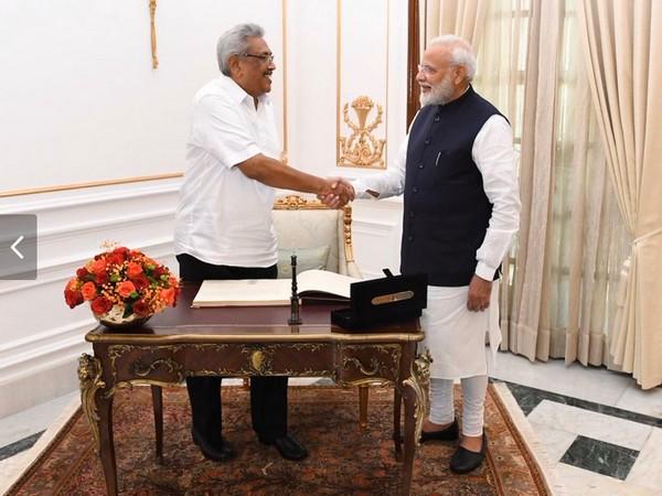 Prime Minister Narendra Modi and Sri Lankan President Gotabaya Rajapaksa at Hyderabad House in New Delhi on Friday.