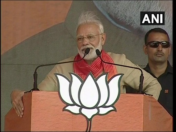 Prime Minister Narendra Modi addressing a rally in Charkhi Dadri, Haryana on Tuesday.