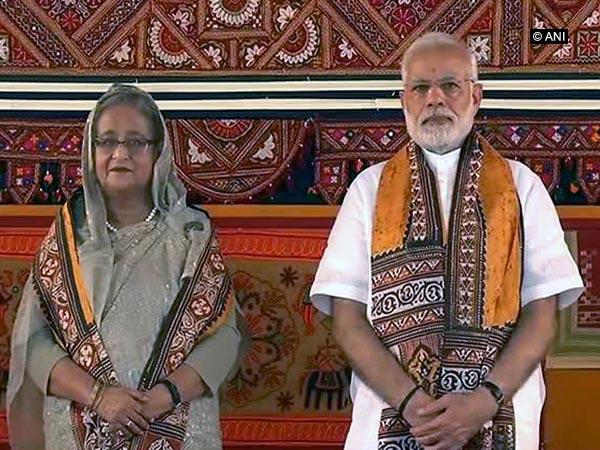 Prime Minister Narendra Modi and Bangladesh PM Sheikh Hasina