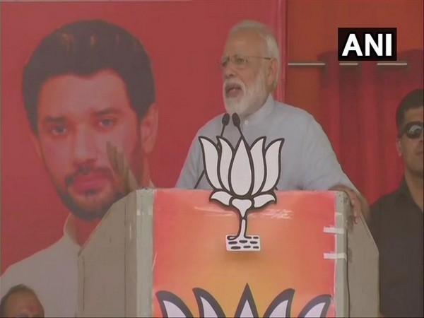 Prime Minister Narendra Modi addressing a rally in Jamui on Tuesday.