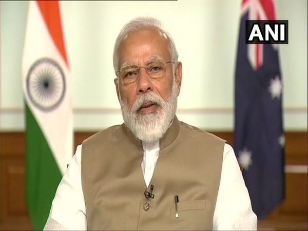 Prime Minister Narendra Modi in talks with his Australian counterpart on Thursday. [Photo/ANI]