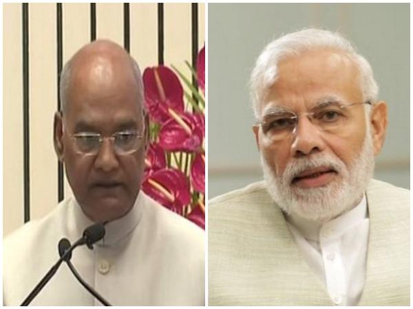 File photos of President Ram Nath Kovind and Prime Minister Narendra Modi