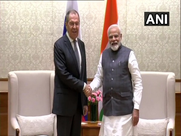 Russian Foreign Minister Sergey Lavrov with PM Narendra Modi in Delhi on Wednesday.