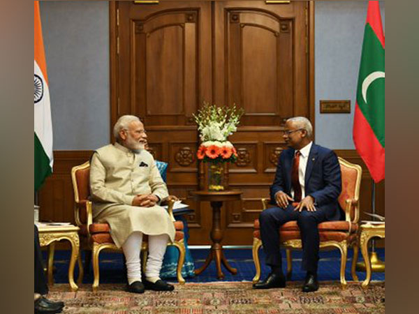 Prime Minister Narendra Modi with Maldives President Ibrahim Mohamed Solih in Male' on June 8 (Picture Credits: Narendra Modi/Twitter)