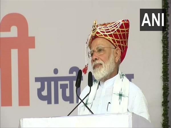 Prime Minister Narendra Modi addressing a rally in Nashik on Thursday. Photo/ANI