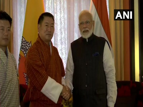 PM Narendra Modi with Dr Pema Gyamtsho, Opposition leader of Bhutan's lower house of Parliament.