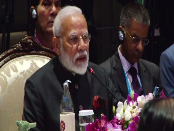 Prime Minister Narendra Modi speaking at 16th India-ASEAN summit. Photo/ANI