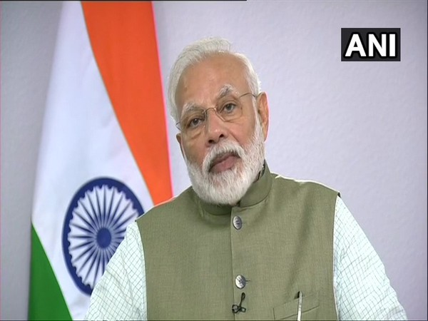 PM Modi addressing a convention on 'Conservation of Migratory Species of Wild Animals' at Gandhinagar via video conference. (Photo/ANI)