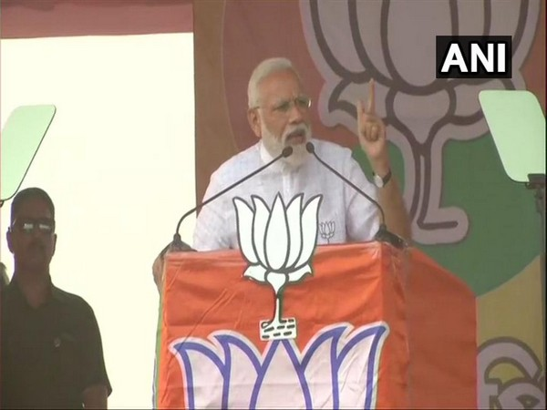 Prime Minister Narendra Modi addressing a rally in Siliguri in West Bengal on Wednesday..