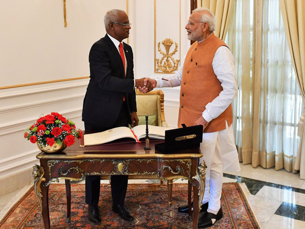 Maldivian President Ibrahim Solih and Prime Minister Narendra Modi after bilateral talks during the forrmer's visit to India in December last year (file photo)