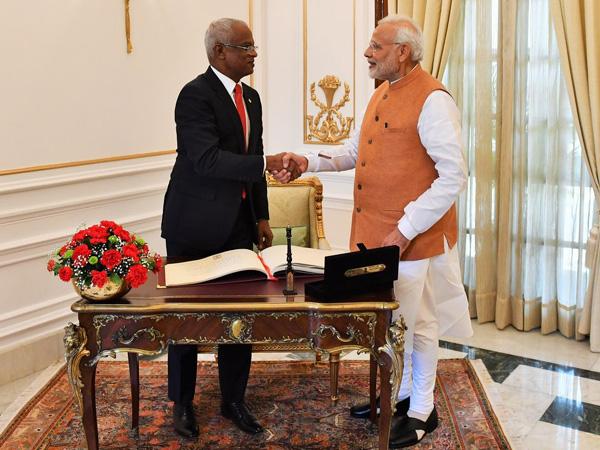 Prime Minister Narendra Modi and Maldives' President Ibrahim Mohamed Solih (File photo)