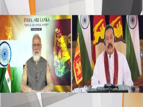 Prime Minister Narendra Modi and his Sri Lankan counterpart Mahinda Rajapaksa, during a virtual bilateral summit on Saturday.