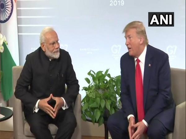 PM Modi and Donald Trump addressing press briefing on Monday