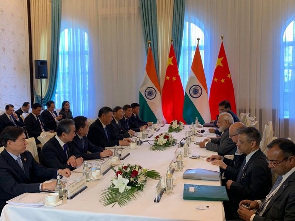 Prime Minister Narendra Modi and Chinese President Xi Jinping meeting on the sidelines of SCO summit in Bishkek on Thursday. (Picture Credits: PMO)