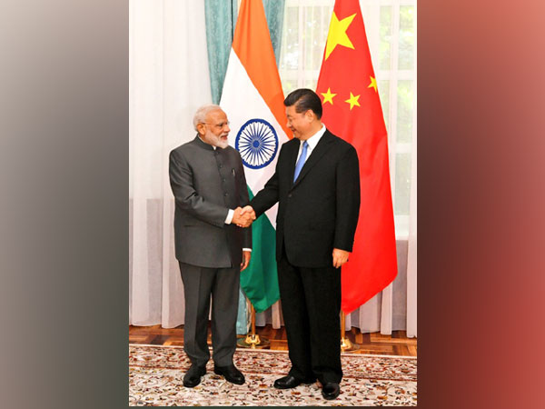 Prime Minister Narendra Modi and Chinese President Xi Jinping meeting on the sidelines of SCO summit in Bishkek on Thursday. (Picture Credits: MEA Twitter)