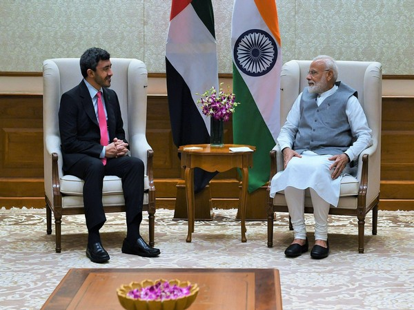 UAE's Foreign Minister Sheikh Abdullah Bin Zayed Al Nahyan with Prime Minister Narendra Modi in New Delhi on Tuesday