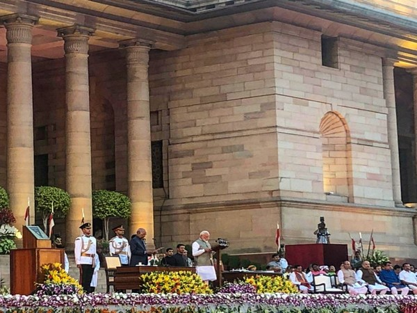 Narendra Modi took oath as the Prime Minister of India again for a second consecutive term at the Rashtrapati Bhavan on Thursday (Photo credits: Alexandre Ziegler/ Twitter)