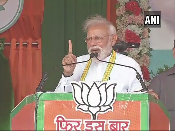 Prime Minister Narendra Modi addressing an election rally in Balod, Chhattisgarh, on Saturday.