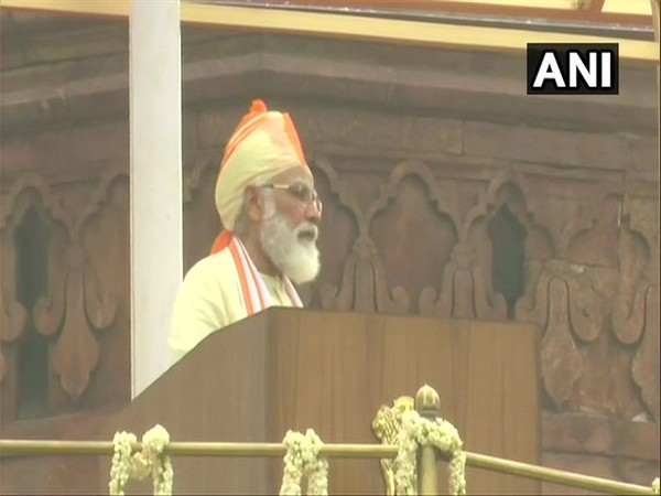 Prime Minister Narendra Modi addressing from the ramparts of Red Fort on Independence Day.