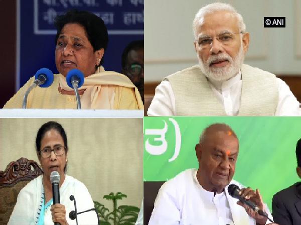 Mayawati, Narendra Modi (UP), Mamata Banerjee, HD Deve Gowda (Bottom)