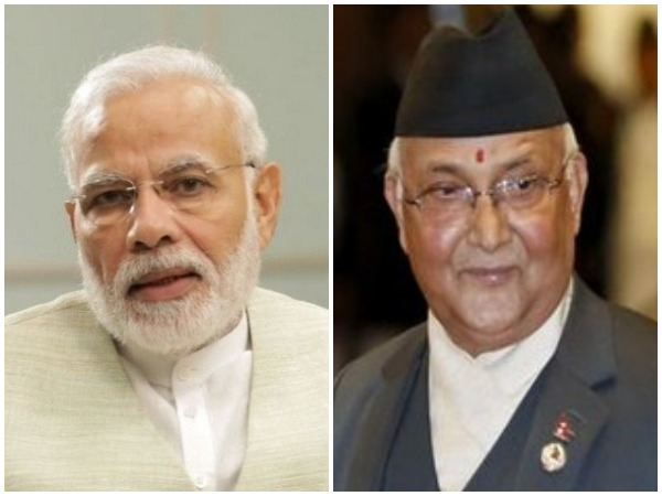 Prime Minister Narendra Modi and his Nepalese counterpart KP Sharma Oli