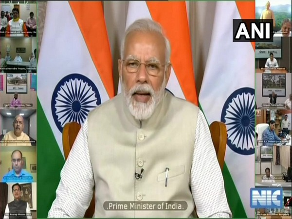 Prime Minister Narendra Modi interacting with AYUSH professionals through video conferencing on Saturday.