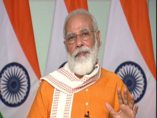 Prime Minister Narendra Modi addressing students participating in the Smart India Hackathon 2020 on Saturday. Photo/ANI