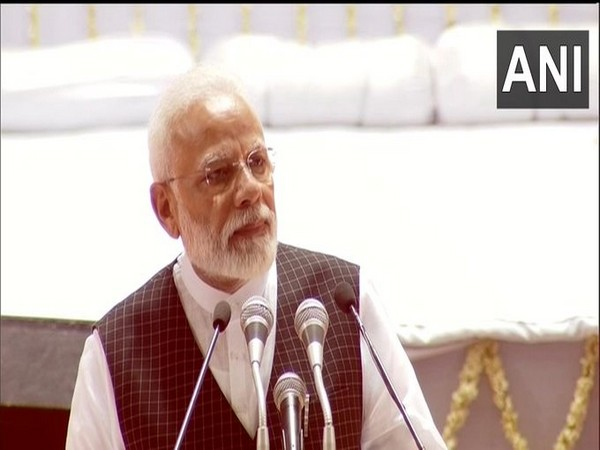 Prime Minister Narendra Modi speaking at the condolence meeting in New Delhi on Tuesday, Photo/ANI