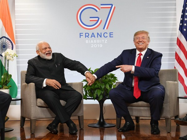United States President Donald Trump with Prime Minister Narendra Modi during a bilateral meeting on the sidelines of the G7 summit in France