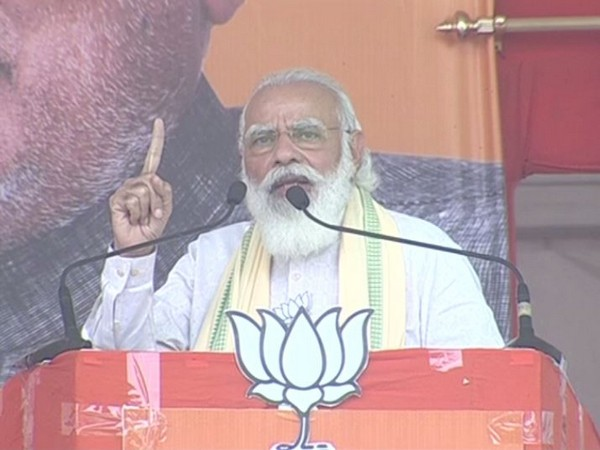 PM Narendra Modi speaking at the election rally. [Photo/ANI]