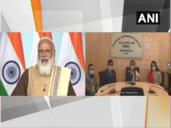 Prime Minister Narendra Modi interacting with PMRBP awardees on Monday via video conferencing.