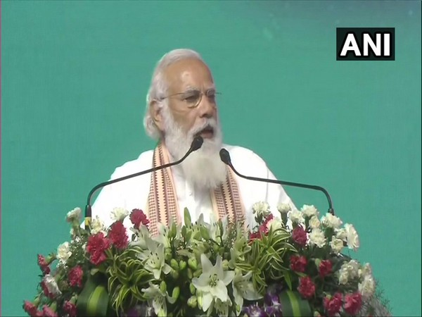 Prime Minister Narendra Modi speaking at the event in Coimbatore on Thursday.