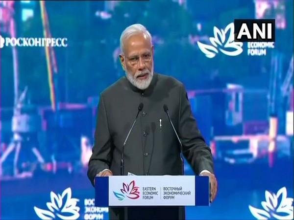 Prime Minister Narendra Modi addressing the 5th Eastern Economic Forum in Vladivostok on Thursday