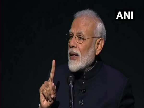 Prime Minister Narendra Modi speaking after receiving the Global Goalkeeper's Award in New York on Tuesday.