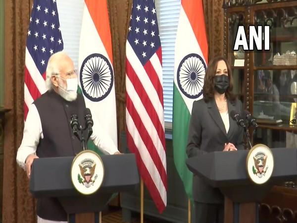 Prime Minister Narendra Modi met US Vice President Kamala Harris in Washington on Thursday.