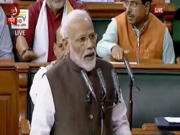 PM Modi took oath first in Lok Sabha. Photo/ANI