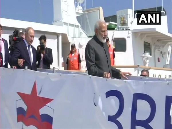 Prime Minister Narendra Modi and Russian President Vladimir Putin on Tuesday at 'Zvezda' Shipbuilding Complex