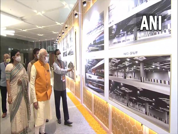 Prime Minister Narendra Modi reviewed the model of the new exhibition complex at Pragati Maidan. (Photo/ ANI)