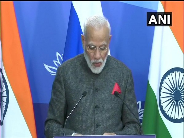 Prime Minister Narendra Modi addresses the 20th Annual India-Russia Summit in Vladivostok on Wednesday