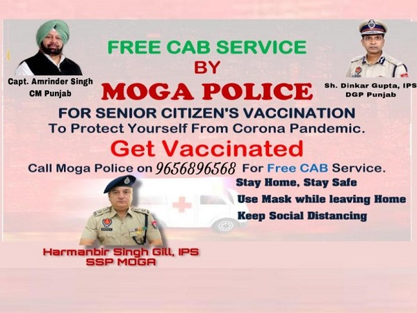 Punjab Police starts free cab service for senior citizens in Moga